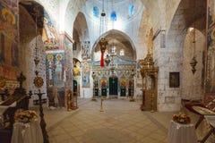 El monasterio del interior cruzado, Jerusalén Imágenes de archivo libres de regalías