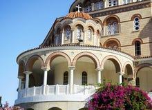 El monasterio del santo Nectarios Grecia Imágenes de archivo libres de regalías