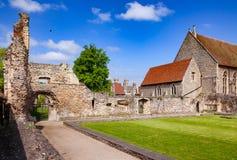 El monasterio del St Augustines Abbey Benedictine permanece en Cantorbery Fotos de archivo libres de regalías