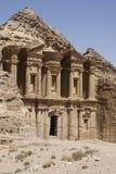 El monasterio en el Petra Imagen de archivo libre de regalías