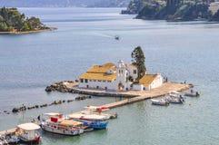 El monasterio en la isla del ratón Fotos de archivo libres de regalías
