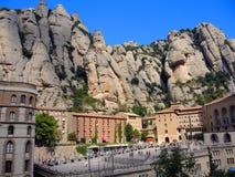 El monasterio en la montaña de Montserrat Imágenes de archivo libres de regalías
