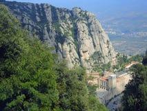 El monasterio en la montaña de Montserrat Fotos de archivo