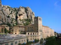 El monasterio en la montaña de Montserrat Imagen de archivo libre de regalías
