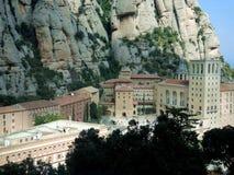 El monasterio en la montaña de Montserrat Foto de archivo libre de regalías