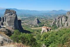El monasterio en las rocas Imagenes de archivo