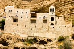 El monasterio ortodoxo griego de San Jorge en Wadi Qelt, desierto de Judean Foto de archivo libre de regalías