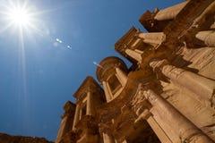 El monasterio, Petra Imágenes de archivo libres de regalías