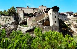 El monasterio santo de gran Meteoron Imagenes de archivo