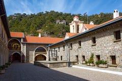 El monasterio santo de la Virgen de Kykkos en las montañas de Troodos, Imágenes de archivo libres de regalías