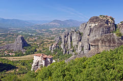 El monasterio santo de Rousanou. Meteora. Imagenes de archivo
