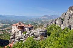 El monasterio santo de Rousanou. Meteora. Imágenes de archivo libres de regalías