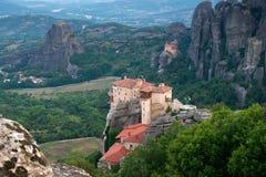 El monasterio santo de Rousanou/St Barbara foto de archivo libre de regalías