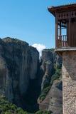 El monasterio santo de Rousanou/St Barbara fotos de archivo libres de regalías