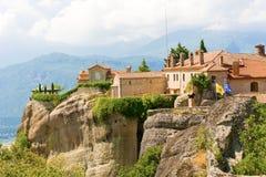El monasterio santo de St Stephen, Meteora, Grecia Fotografía de archivo