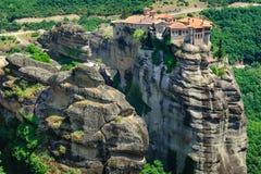 El monasterio santo de Varlaam, Meteora, Grecia Imágenes de archivo libres de regalías