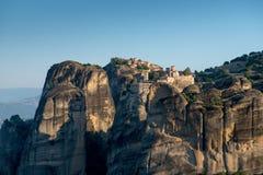 El monasterio santo de Varlaam y monasterio santo de gran Meteoron imagen de archivo