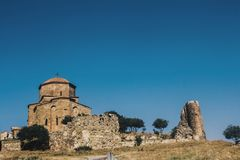 El monasterio viejo en Georgia Fotografía de archivo