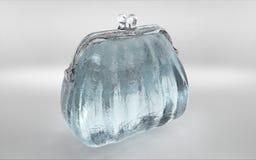 el monedero claro transparente del hielo rinde stock de ilustración