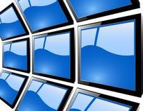 El monitor azul del tft Fotografía de archivo