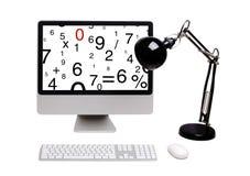 El monitor con las figuras fotos de archivo