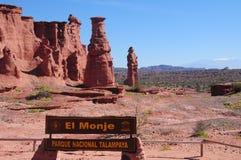 ` El Monje `, park narodowy Talampaya, Argentyna Zdjęcia Royalty Free
