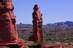 ` El Monje `, park narodowy Talampaya, Argentyna Zdjęcia Stock