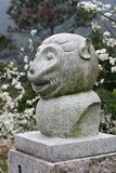El mono chino del zodiaco imagen de archivo