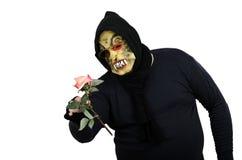 El monstruo nunca vio la rosa del rosa antes Fotos de archivo