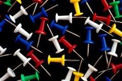 El montón de los contactos abigarrados del empuje Imagen de archivo libre de regalías