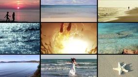 El montaje del mar almacen de metraje de vídeo