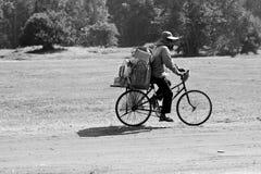 El montar con Angkor Fotos de archivo libres de regalías