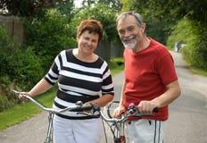 El montar en bicicleta Foto de archivo libre de regalías