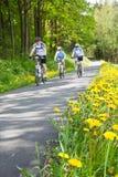 El montar en bicicleta del grupo de personas Fotografía de archivo libre de regalías