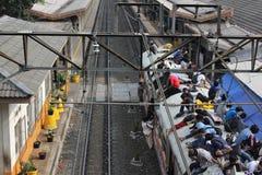 El montar en el tejado del tren Fotos de archivo libres de regalías
