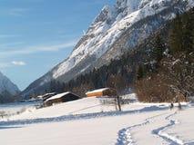 El montar en la nieve Foto de archivo libre de regalías
