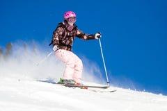 El montar en los esquís Fotos de archivo libres de regalías