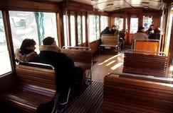 El montar en un tren viejo Foto de archivo libre de regalías