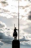 El montar hacia las nubes Foto de archivo