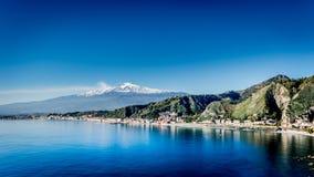 El monte Etna poderoso Imagen de archivo