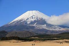 El monte Fuji en el invierno Fotos de archivo