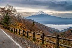 El monte Fuji en la estación del otoño Fotografía de archivo
