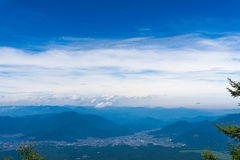 El monte Fuji, Japón que sube del rastro de yoshida Fotografía de archivo