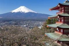 El monte Fuji vio Fotos de archivo libres de regalías