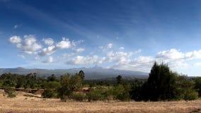 El monte Kenia en Kenia central metrajes