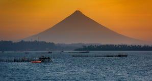 El Monte Mayon, Donsol, Filipinas foto de archivo libre de regalías
