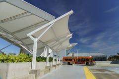 EL Monte Metro Station em um dia ensolarado Imagens de Stock