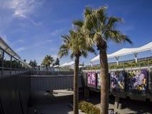 EL Monte Metro Station in un giorno soleggiato fotografie stock libere da diritti