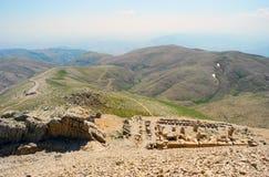 El Monte Nemrut en Turquía imagenes de archivo