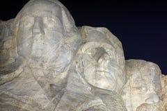 El monte Rushmore en la noche Fotografía de archivo libre de regalías